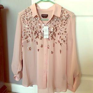 Bebe pink sparkle shirt